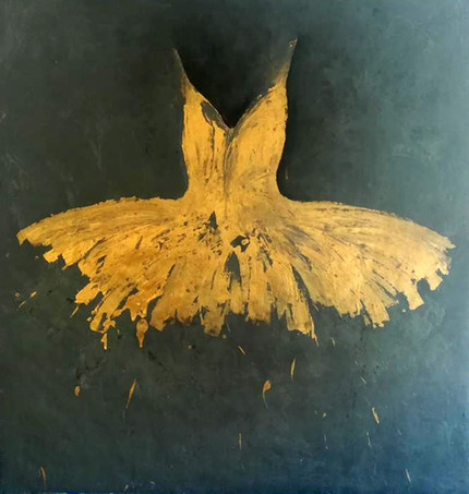 Big Golden Opera Dress, 2018 (sold)