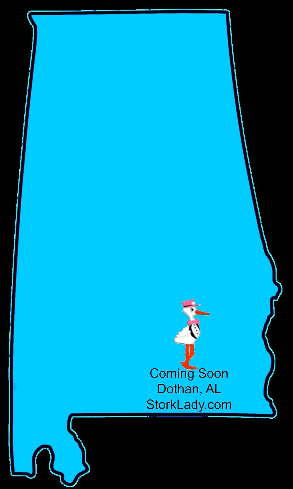 alabama, map