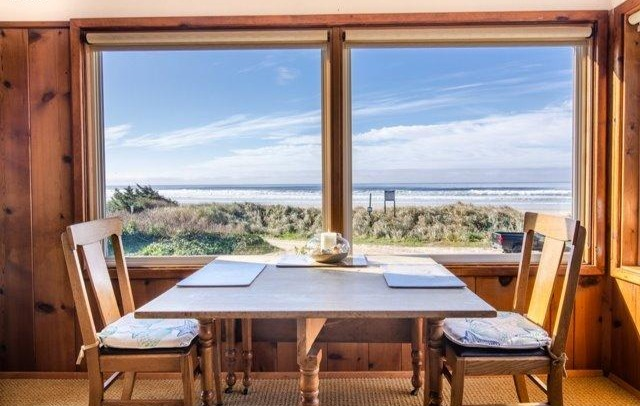 Table Oceanfront View