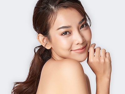 Young woman with beautiful skin