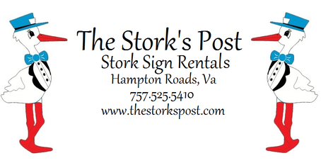 Hampton Roads, VA Stork Rental Service ~ The Stork's Post ~ Yard Sign Birth Announcements