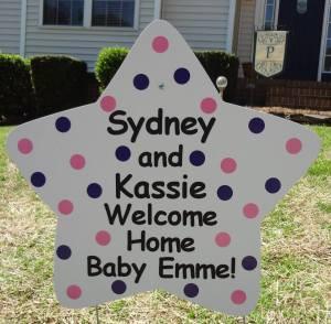sign, yard, baby