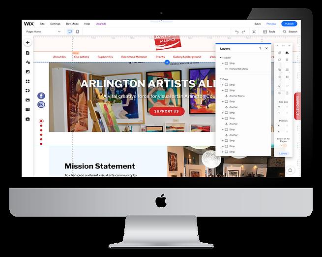 WIX Website Design - WIX Editor