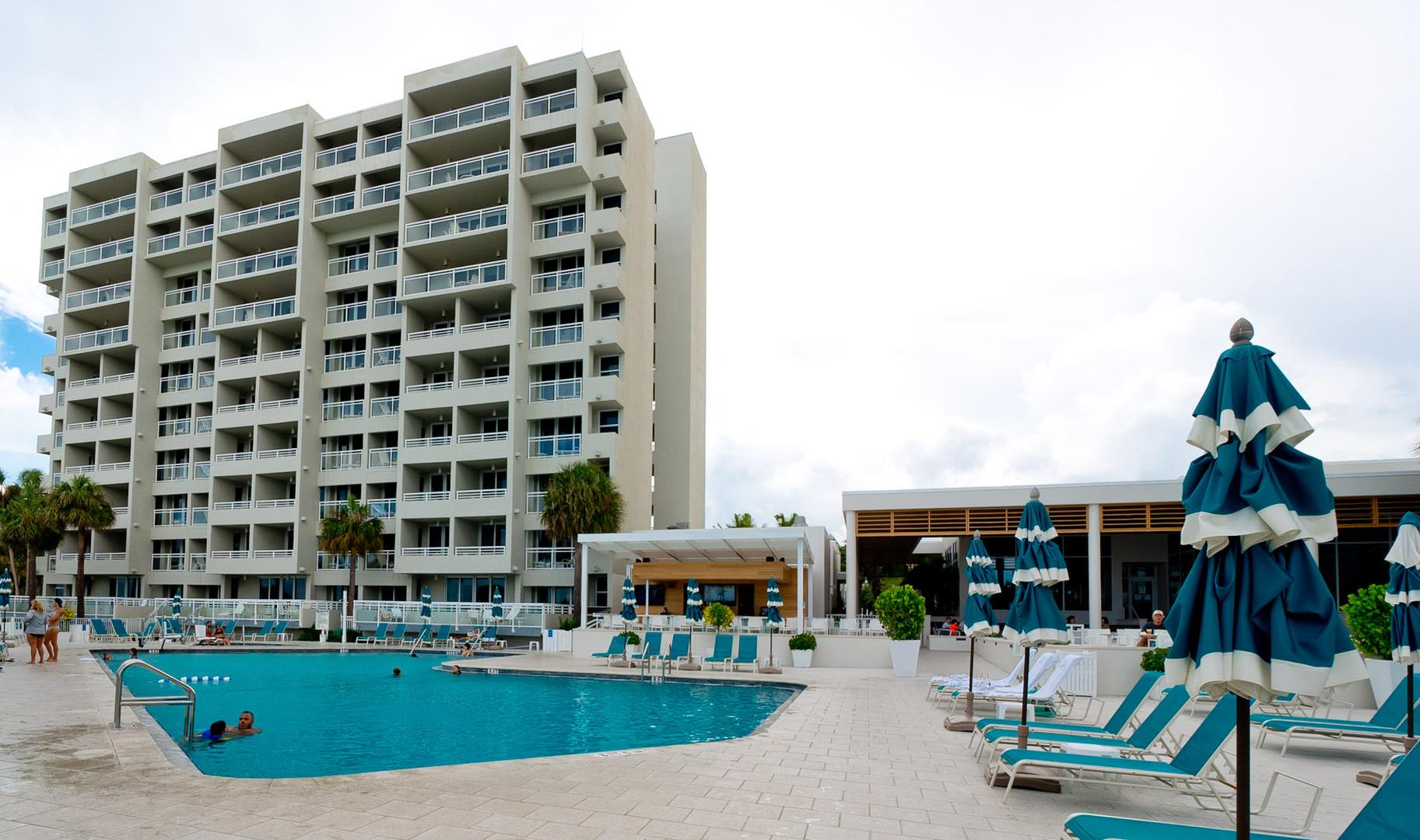 Large resort pool