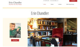 Erin Chandler Design of a new website for the author and actress...