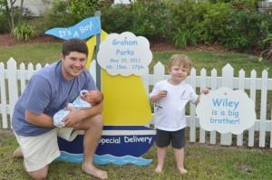 boat, family, son, dad, yard