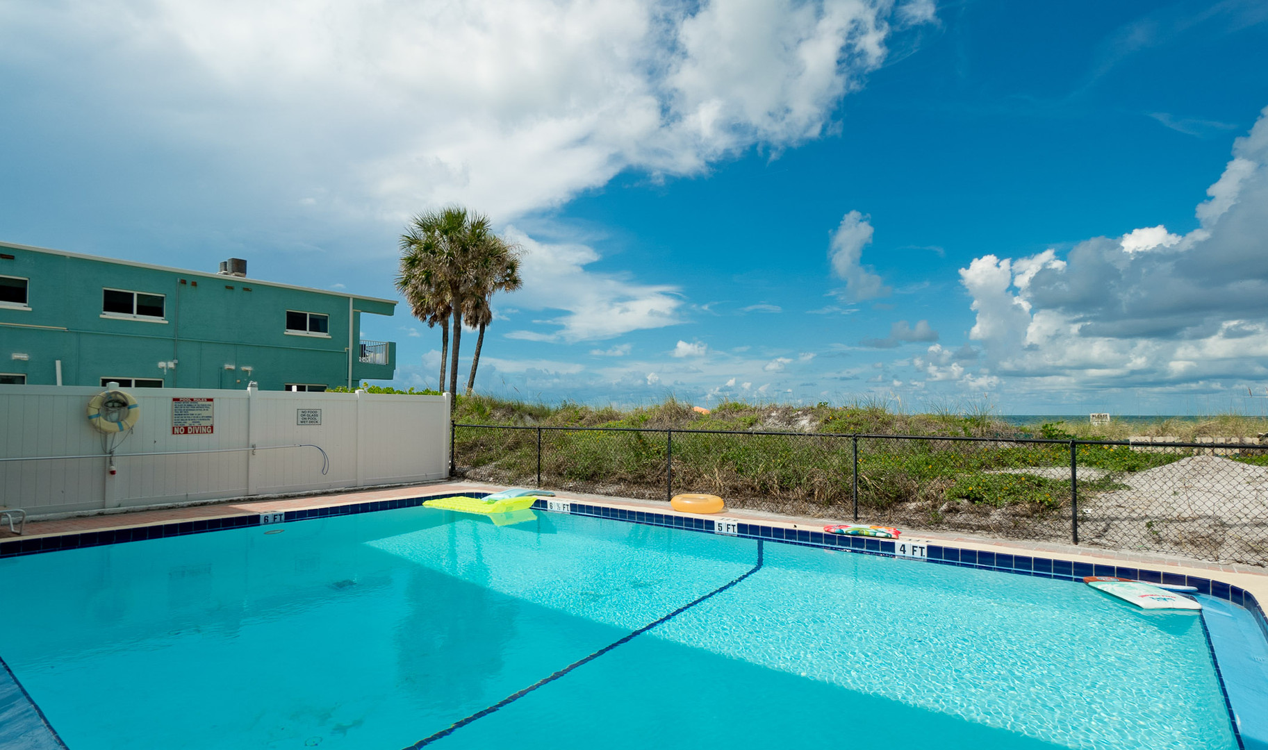 Take a break from the beach poolside