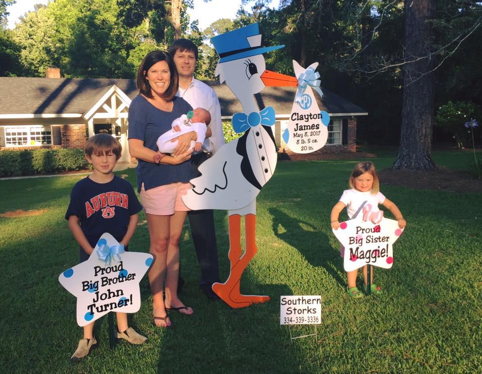 stork sign, birth, family