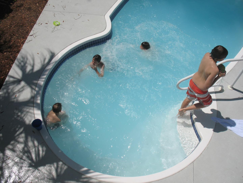TM2Boys in pool