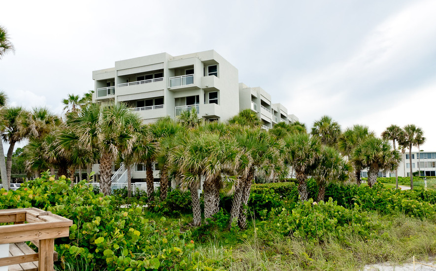 Building 1 right on the beach