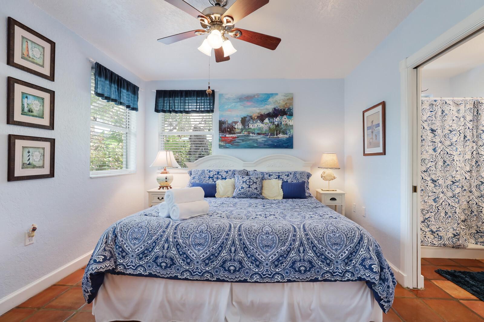 Oleander Villa beautiful blue bedroom