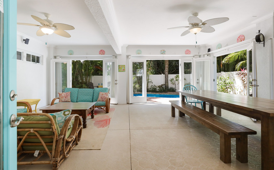 Open air pool room