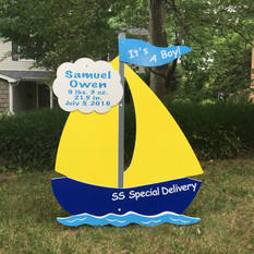 Blue Sailboat Boy