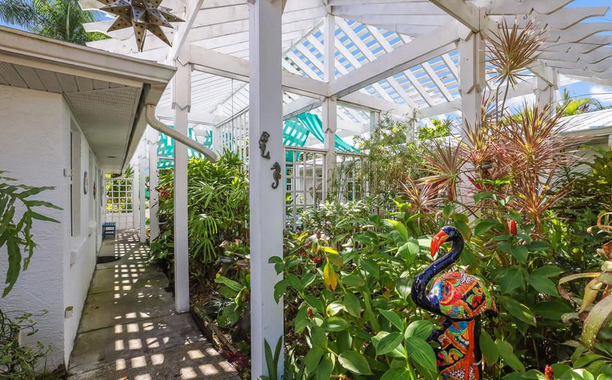 Botanical pathway to Oleander Villa