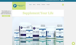 Premier Vitality Wellness E-commerce website