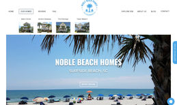 Noble Beach Homes Brand new website for booking vacation rentals fro...