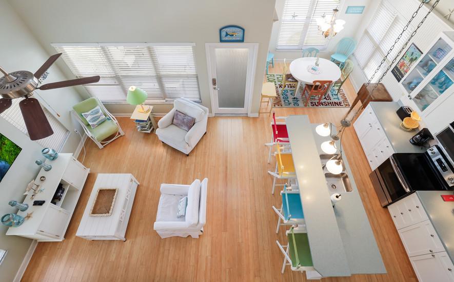 Very open living area