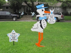 Hubert, NC Stork Yard Signs ~ Crystal Coast Storks & More ~ Jacksonville, NC
