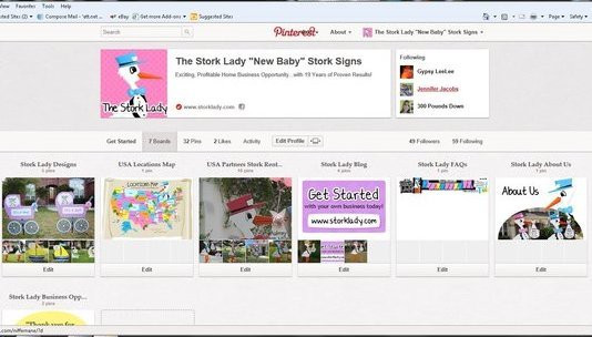 pinterest, screenshot, stork lady