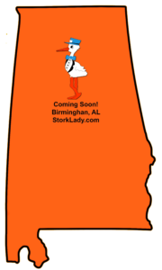 Stork Signs Birmingham, AL ~ Coming October 2016 ~ Stork Lady Business Opportunity ~ Stork Yard Sign