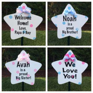 sign, yard