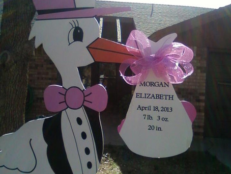 Stork Rentals in Midland, TX ~ Stork Yard Sign Birth Announcements