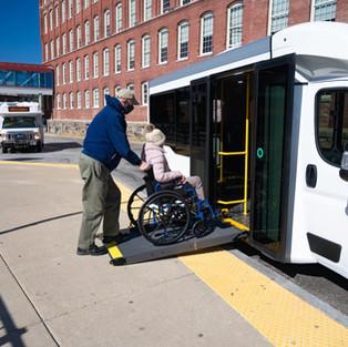 Wheelchair entering