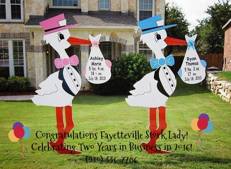 Fayetteville Stork Lady ~ North Carolina ~ Stork & Birthday Sign Rentals