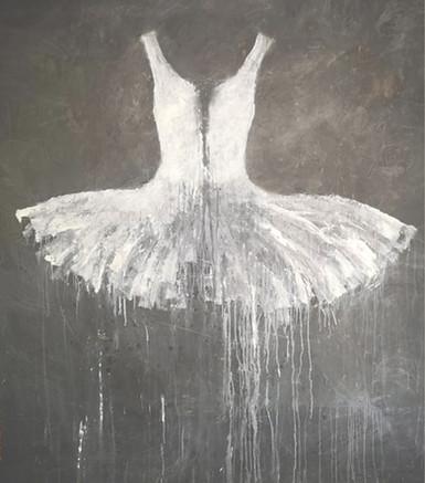 White on Grey Dress, 2019