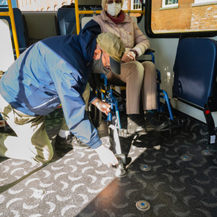 Wheelchair secured