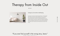 Azadeh Therapy from Inside Out New one page website with a lightbox for bookings ...