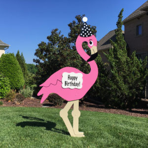 flamingo sign, birthday