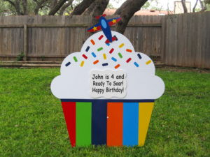 cupcake sign, birthday