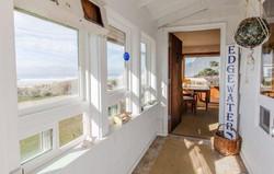 View from inside Oceanfront Edgewater Manzanita House