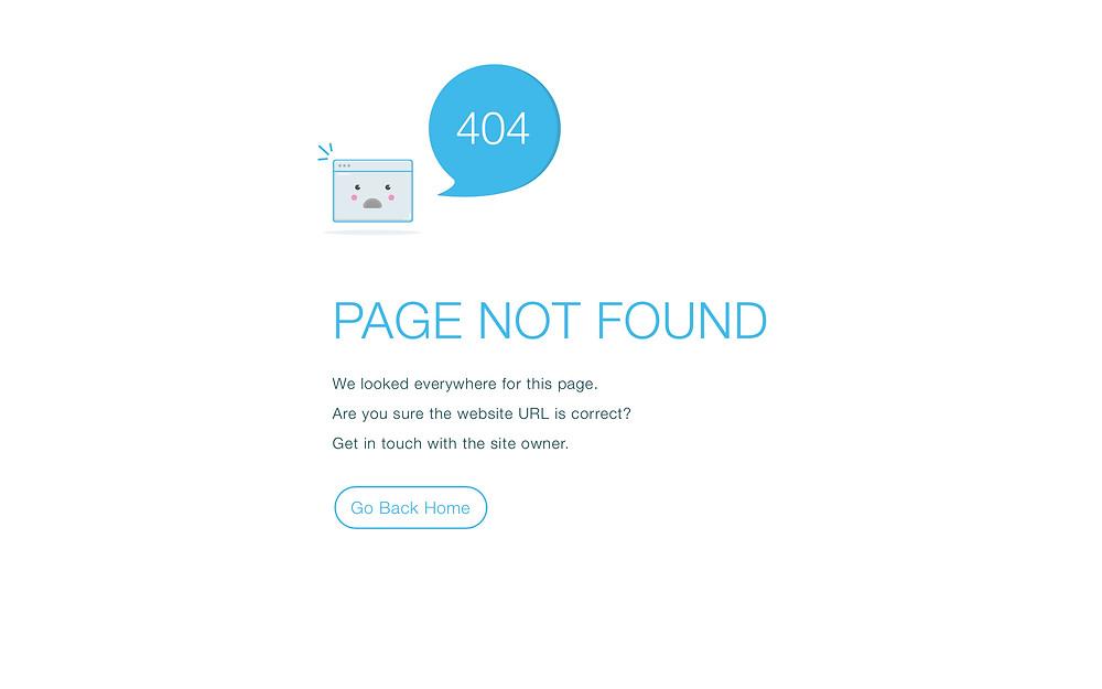 Wix Standard 404 Page