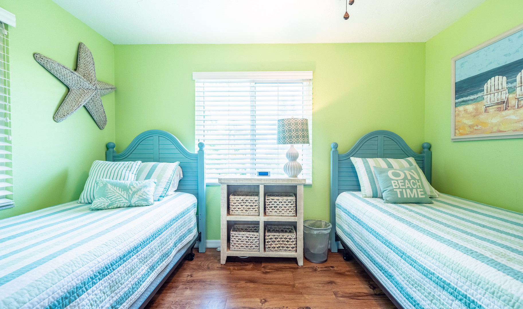 Bright and cheery guestroom