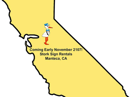 Manteca, CA Stork Sign Rentals Coming November 2017 ~ Yard Pops