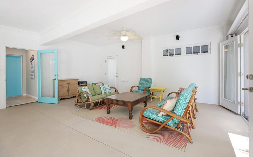 Downstairs pool room