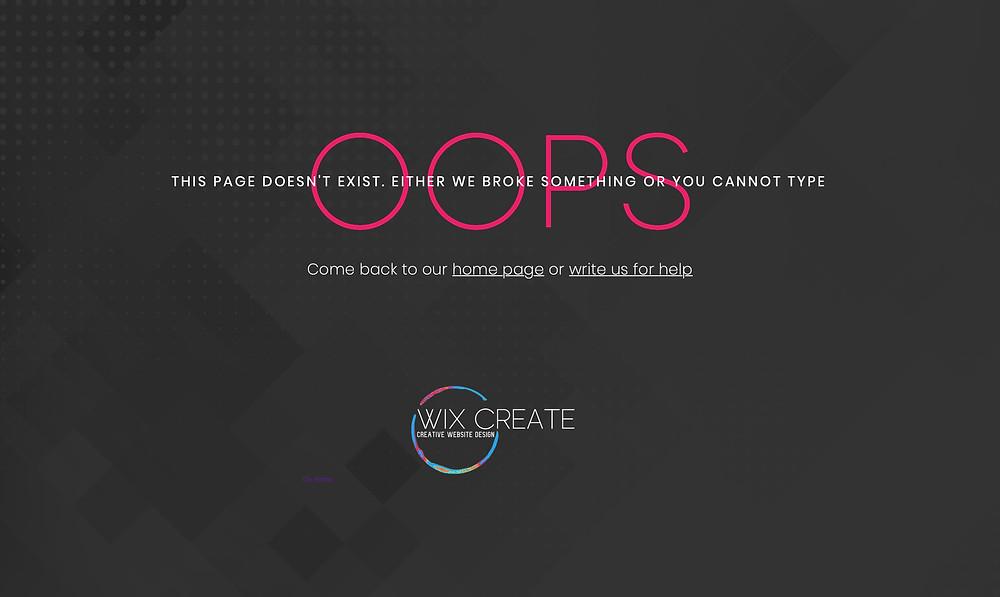 Wix Custom 404 Page