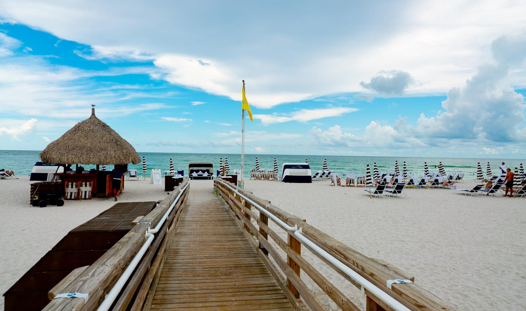 Boardwalk to private beach