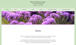 Stacey Uebersax Completely new website for psychologist Stacey Ueb...