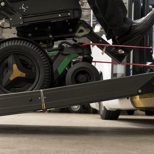 Ramp angle view ramp with wheelchair