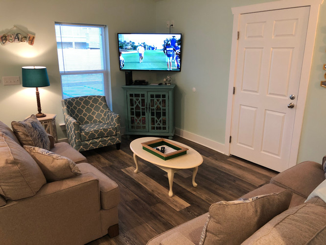 Living room with smart TV