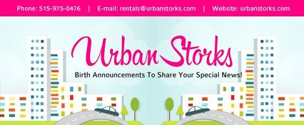 Coming Soon to Des Moines, Iowa ~ Urban Storks ~ Stork Lawn Sign Birth Announcements