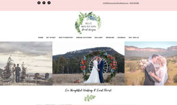Blue Mountains Floral Design, Eco Wedding & Event Florist Redesigned the site both in desktop and mobile, re...