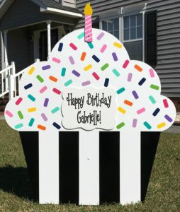 cupcake sign, birthday, celebration