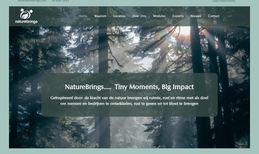NatureBrings Website for the new Dutch company NatureBrings. Op...