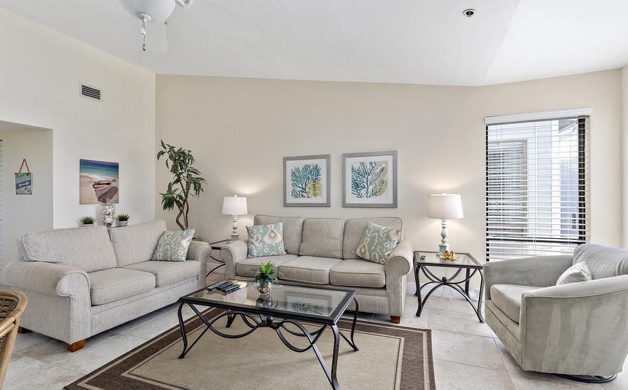 Comfortable living room seating