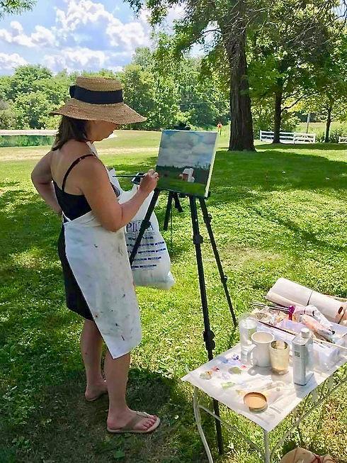 Cindy plein air painting