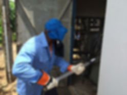 High voltage live cleaning up to 36 kV